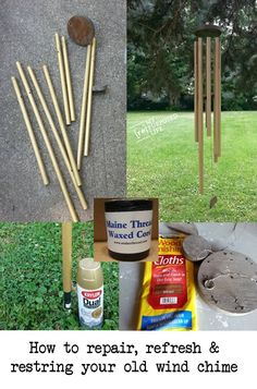 how to fix and refresh broken wind chimes via @repurposedlife