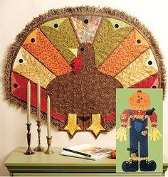 thanksgiving quilt patterns   Fall Thanksgiving Halloween Pumpkin Turkey Patterns McCalls 6413 ...