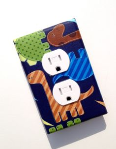 Dinosaur Nursery Decor / Outlet Plate Cover / Baby by SSKDesigns, $10.00