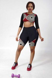 OKTOBER.CO.ZA - SHORT AFRICAN SPORTSWEAR (Set) Sportswear, Sporty, African, Lingerie, Lady, Outfits, Clothes, Dresses, Fashion