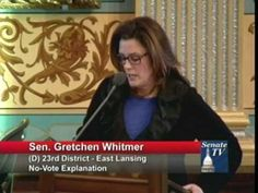 ▶ Senator Whitmer Shares Personal Story in Opposition to Latest Republican Attack on Women - YouTube