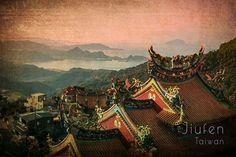 Framed Vintage Jiufen, Taiwan, Asia Print