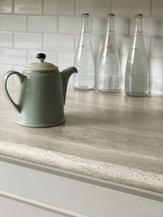 Formica® Travertine Silver #Kitchen #Countertop