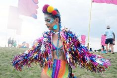 Rainbow Tinsel Festival Monster Jacket