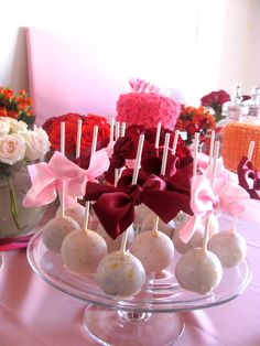 Cake Pops - we are aiming for cheesecake cake pops, maybe rolled in fine crushed cookie/crumb, and chocolate dipped...and deco'd of course