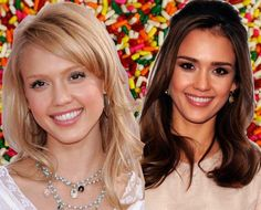 Quite a few models and celebs have made pretty drastic hair color changes recently. Crystal Renn shocked everyone with her new stark white hair and br Blonde Vs Brunette, Crystal Renn, Jessica Alba, Celebs, Celebrities, Celebrity Hairstyles, White Hair, Brunettes, Color Change
