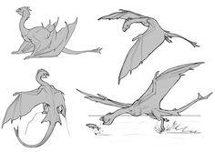 ArtStation - Fishing Dragon sketches, Javier Franco Santacreu