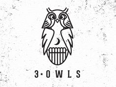 The beautiful owl has long been associated with wisdom. The Greek goddess of wisdom, Athena, had the owl as her symbol. And even further back than that, the owl Typographic Logo, Typography, Owl Logo, Logo Samples, Clever Logo, Logo Design Inspiration, Creative Inspiration, Illustrations, Identity Design