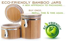 Beautiful Bamboo Jars... great for packaging stuff!