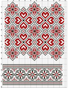 Blackwork Embroidery, Folk Embroidery, Cross Stitch Embroidery, Embroidery Patterns, Knitting Patterns, Cross Stitch Borders, Cross Stitch Charts, Cross Stitch Designs, Cross Stitch Patterns