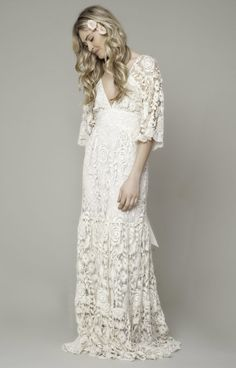 French Lace Roses Gown, $975 at Kite and Butterfly
