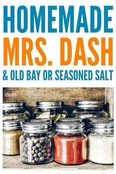 Dash Old Bay & Seasoned Salt - Don't waste money on stale store-bought spice mixes! Make your own for pennies. Mrs Dash Seasoning, Salt Free Seasoning, Homemade Seasoning Salt, Seasoning Mixes, Old Bay Seasoning, Homemade Dry Mixes, Homemade Spice Blends, Homemade Spices, Spice Mixes