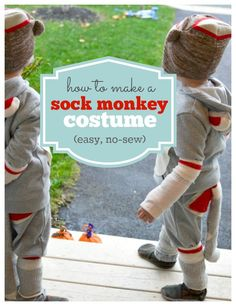 How to make an adorable sock monkey costume!