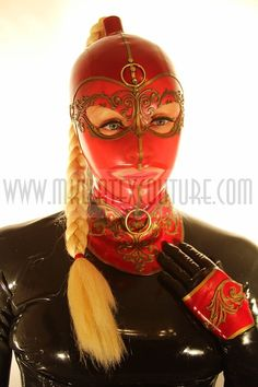 The Dutchess Latex Hood The Dutchess, Latex Hood, Heavy Rubber, Latex Girls, Balaclava, Latex Fashion, Synthetic Hair, Lace Detail, Hoods