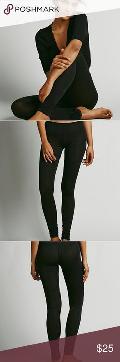 Free People | Sensual Jersey Legging Intimately Free People  Soft, sheer leggings with ruched elastic ankles. Stretchy fit.  NWOT Care: Machine Wash Warm Free People Pants Leggings