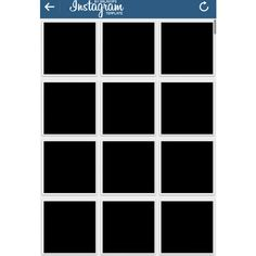 instagram template Tumblr ❤ liked on Polyvore featuring template, fillers, instagram, social media, random, borders and picture frame