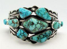 Aaron Toadlena Kingman Turquoise Sterling Silver Bracelet | eBay
