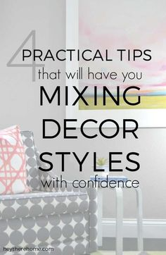 You shouldn't have just one style? But how do you mix styles in a way that doesn't look all over the place? Click through to learn my easy tips to mixing different decor styles! Home Decor Styles, Home Decor Accessories, Decorative Accessories, Decorative Accents, Pottery Barn, Do It Yourself Furniture, Do It Yourself Home, Design Seeds, Living At Home