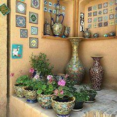 Handmade decorative vase plates, Iran