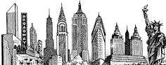 New York City Skyline Sketch | Email This BlogThis! Share to Twitter Share to Facebook Share to ...