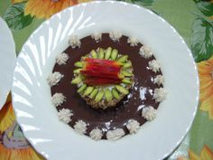 Gateau   genoise  chocolate   ricotta   peche  pistachio  Gino D'Aquino.