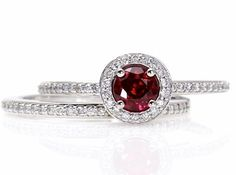 14K Ruby Engagement Ring