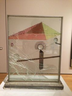 Marcel Duchamp, The Small Glass, To Be Looked at (from the other side of the Glass) with One Eye, Close to, for Almost an Hour on ArtStack #marcel-duchamp #art