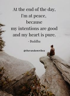 """""""At the end of the day, I'm at peace, because my intentions are good and my heart is pure."""" - Buddha #Peacefulsoulquotes #Peaceatheartquotes #Pureheartquotes #Kindheartquotes #Soulquotes #Inspirationalquotes #Serenityquotes #Peaceofmindquotes #Beingatpeacequotes #Mindsetquotes #Strongsoulquotes #Peacefulquotes #Positivequotes #Healthymindquotes #Mentalpeacequotes #Mentalstrengthquotes #Wellnessofmindquotes #Wisdomquotes #Relatablequotes #Jayshettyquotes #Deepquote #Emotionalquote…"""