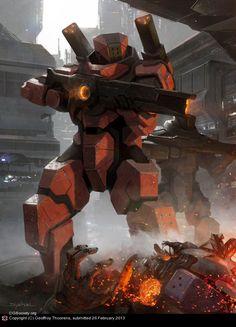 CGTalk - Galaxy Saga (Applibot inc.) Beamgun commander, Geoffroy Thoorens (2D)