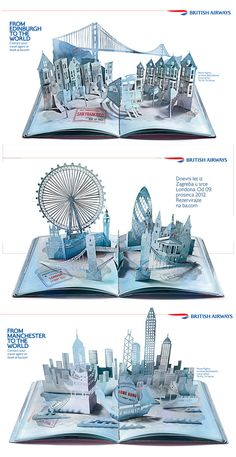 Paper art campaign for British Airways by Su Blackwell