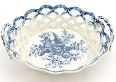 Caughley basket, pinecone pattern, C. 1780