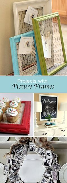 Projects with Picture Frames • Tutorials and ideas for turning ordinary picture frames into DIY home decor! Fun Crafts, Diy And Crafts, Arts And Crafts, Budget Crafts, Metal Crafts, Decor Crafts, Upcycled Crafts, Repurposed, Diy Projects To Try