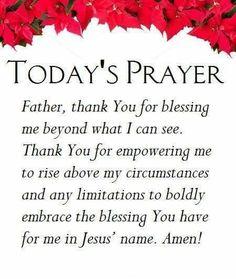 Today's Prayers