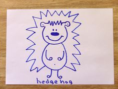 How To Draw A Hedgehog In 60 Seconds? Hedgehog In 60 Seconds with Funny ...