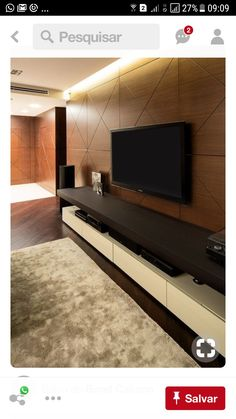 But with crafty use of the TV wall unit setup can ensure that this is not the case. Tv Wanddekor, Modern Apartment Design, Modern Apartments, Apartment Layout, Studio Apartments, Apartment Interior, Apartment Living, Modern Tv Units, Tv Wall Decor