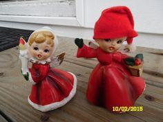 Vintage Choir Angel Christmas Figurines One-Japan One-Napcoware X-6984 Japan