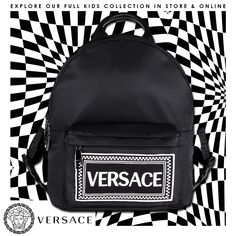Get your little one to accessorise in style with this Young  versace  backpack with stylish 57ecc1b2e3e85