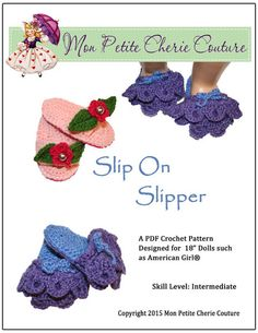 SLIP ON SLIPPER CROCHET PATTERN
