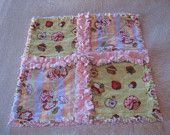 Strawberry Shortcake Baby Girl Mini Rag Quilt Security Blanket Burpie