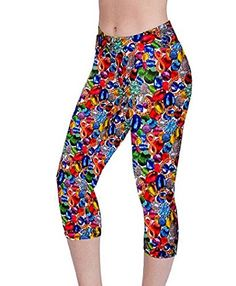 Coolred Womens Funky Print Stretch Footless Cropped Leggings 11 XS ** Click on the image for additional details.