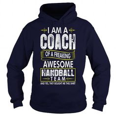 Proud Coach Freaking Awesome Handball Team Tshirt - Mens Premium T-Shirt  LIMITED TIME ONLY. ORDER NOW if you like, Item Not Sold Anywhere Else. Amazing for you or gift for your family members and your friends. Thank you! #handball #shirts