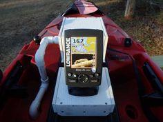 CudaPak (battery, fish finder, transducer all-in-one) install on a Jackson Kayak Cuda