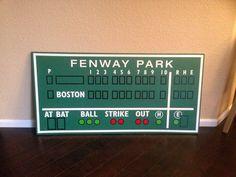 Boston Red Sox decor, Fenway Park, Green Monster score board