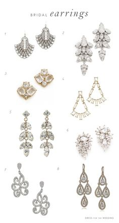 Must Have Bridal Accessories: Earrings via @Dress for the Wedding