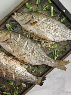 Roasted Fish Stuffed with Fennel & Fresh Herbs  - Click for recipe