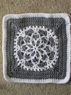 Velvet and Lace crochet square