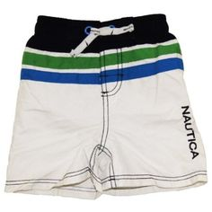 Infant Boy`s White Swim Shorts/Swimwear - Nautica