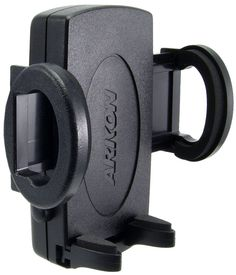 Arkon (SM015-2) Universal Smartphone Holder for iOS Android Windows Smartphones. Product is discontinued and has been replaced with Model SM015-2SLM. Compatible with Arkon Dual-T mounting pedestals. Side grip arms close to 38mm and open to 89mm. 2 year limited warranty.