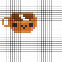 Kawaii Coffee Perler Bead Pattern