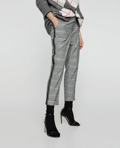 Image 3 of CHECKED TROUSERS WITH SIDE STRIPES from Zara